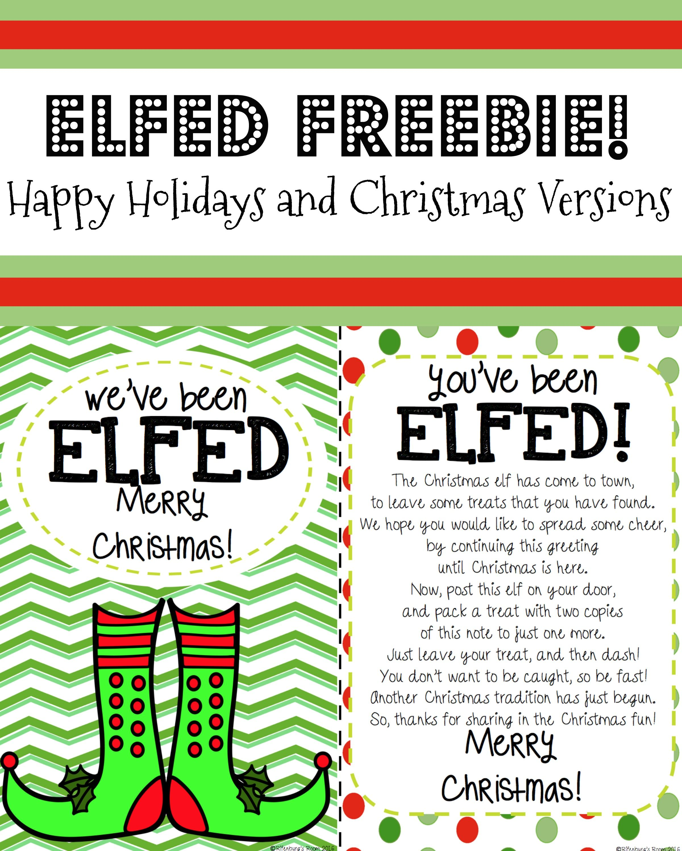 You Ve Been Elfed Elf Fun Elf Printable