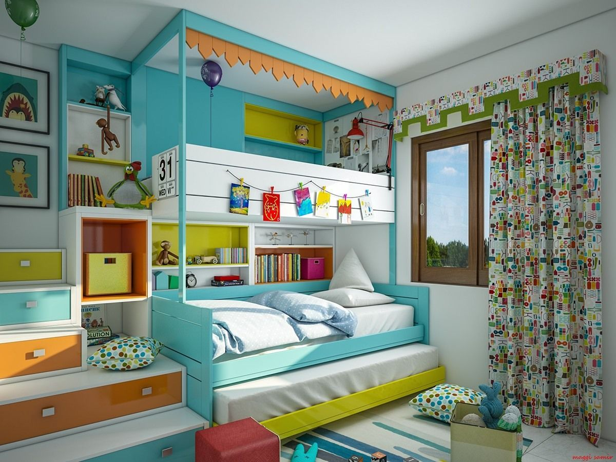 colorful kids bedroom paint ideas for energetic kids | bedrooms