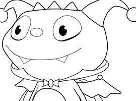 Disney Henry Hugglemonster Coloring Pages Sketch Coloring Page