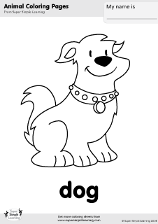 Free dog coloring page from Super Simple Learning. Tons of