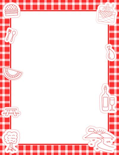 picnicborderpng 400518 Bordes para imprimir Pinterest