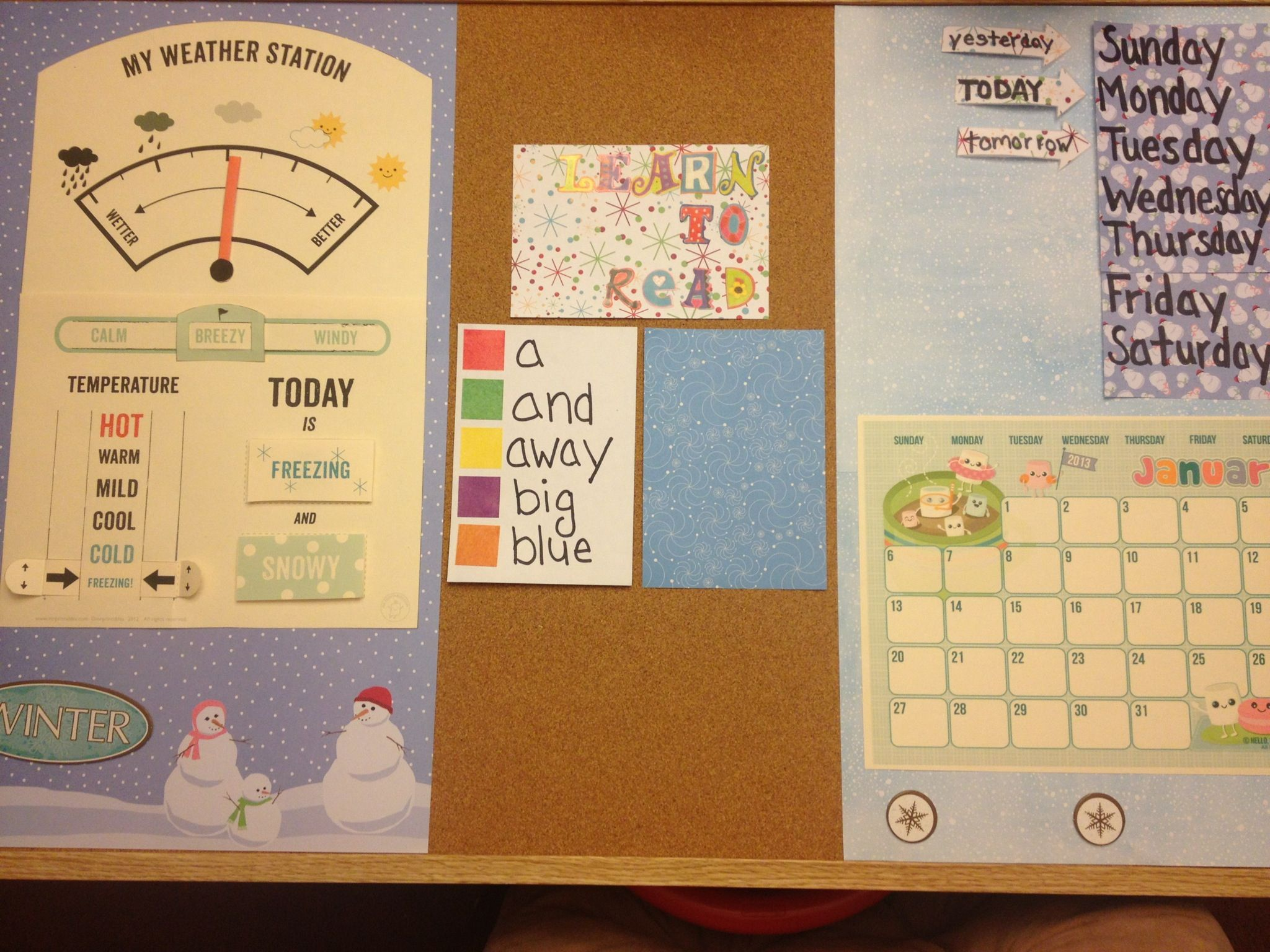 Our Preschool At Home Calendar Word Board Seasons Days Of The Week Sight Words Weather