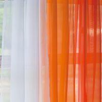 Orange Yellow Sheer Curtains | Curtain Menzilperde.Net