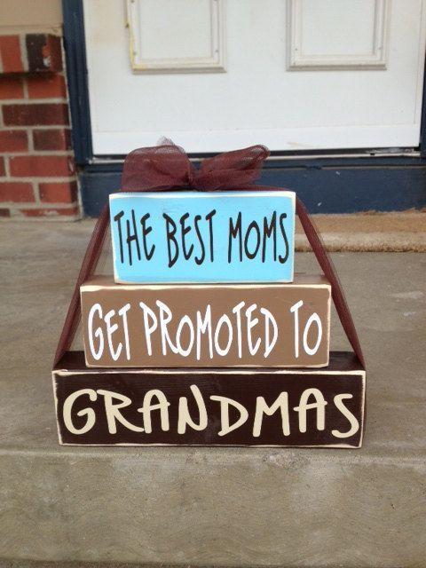 Mother's Day Wood Block Set Grandma Nana T Home Decor