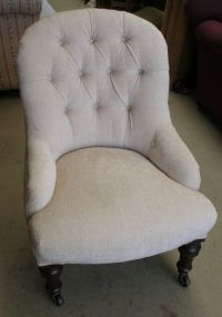 Antique SOLD-Victorian deep buttoned nursing chair ...