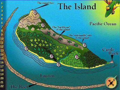 Map of the island LOTF   Urbs LOTF   Pinterest   Yahoo ...