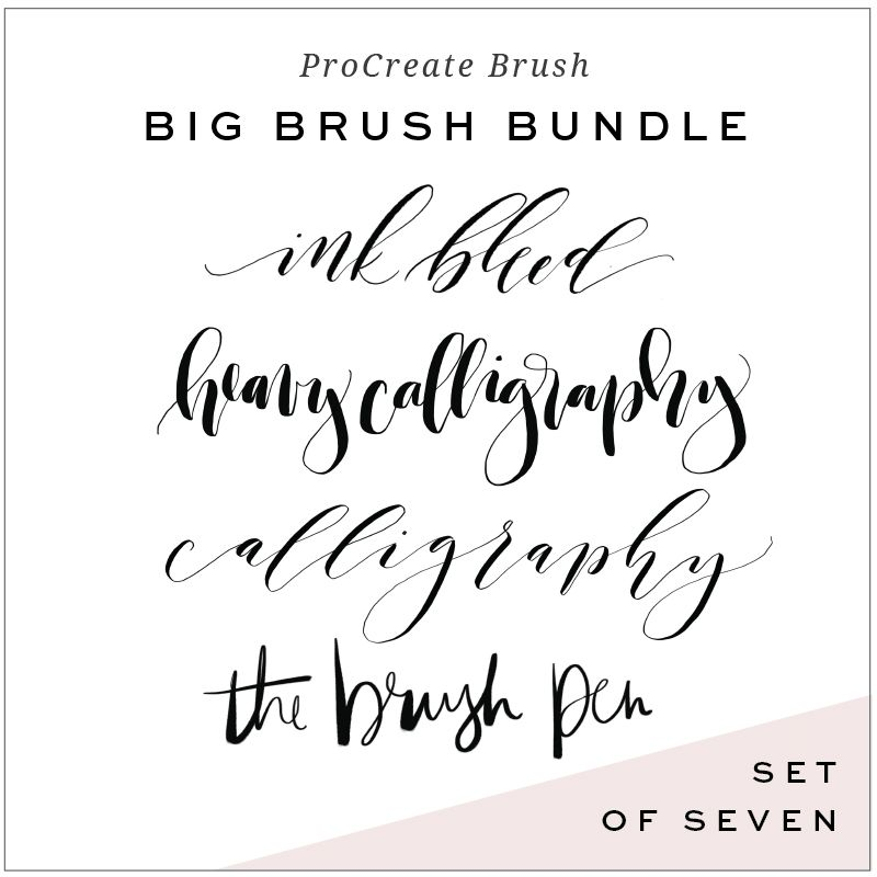 Calligraphy Brushes for ProCreate App