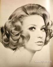 1971 curls bob hairstyle retro