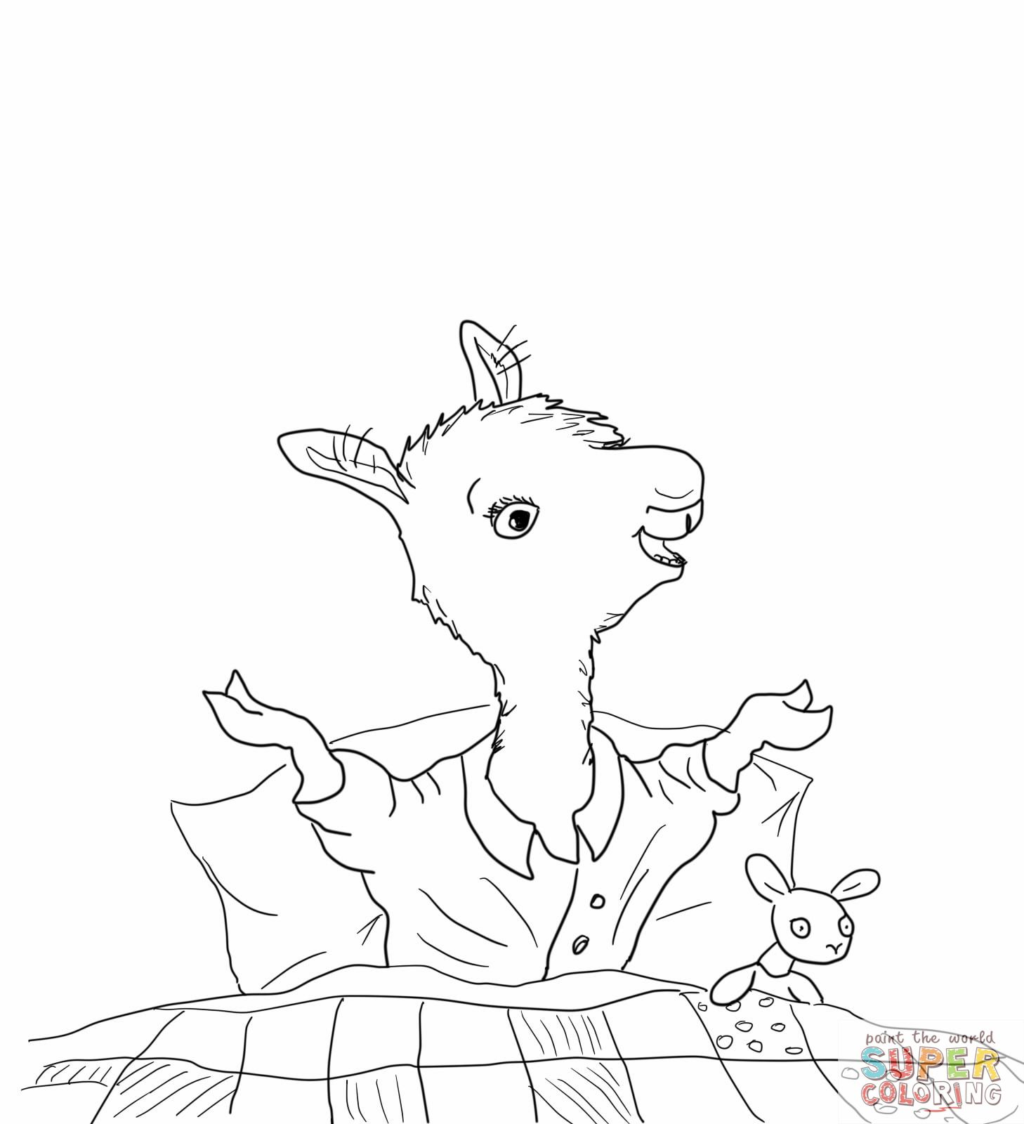 Llama Llama Home With Mama Coloring Page
