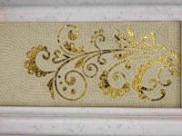 Stone and gold glass mosaic art design for wall decoration ...