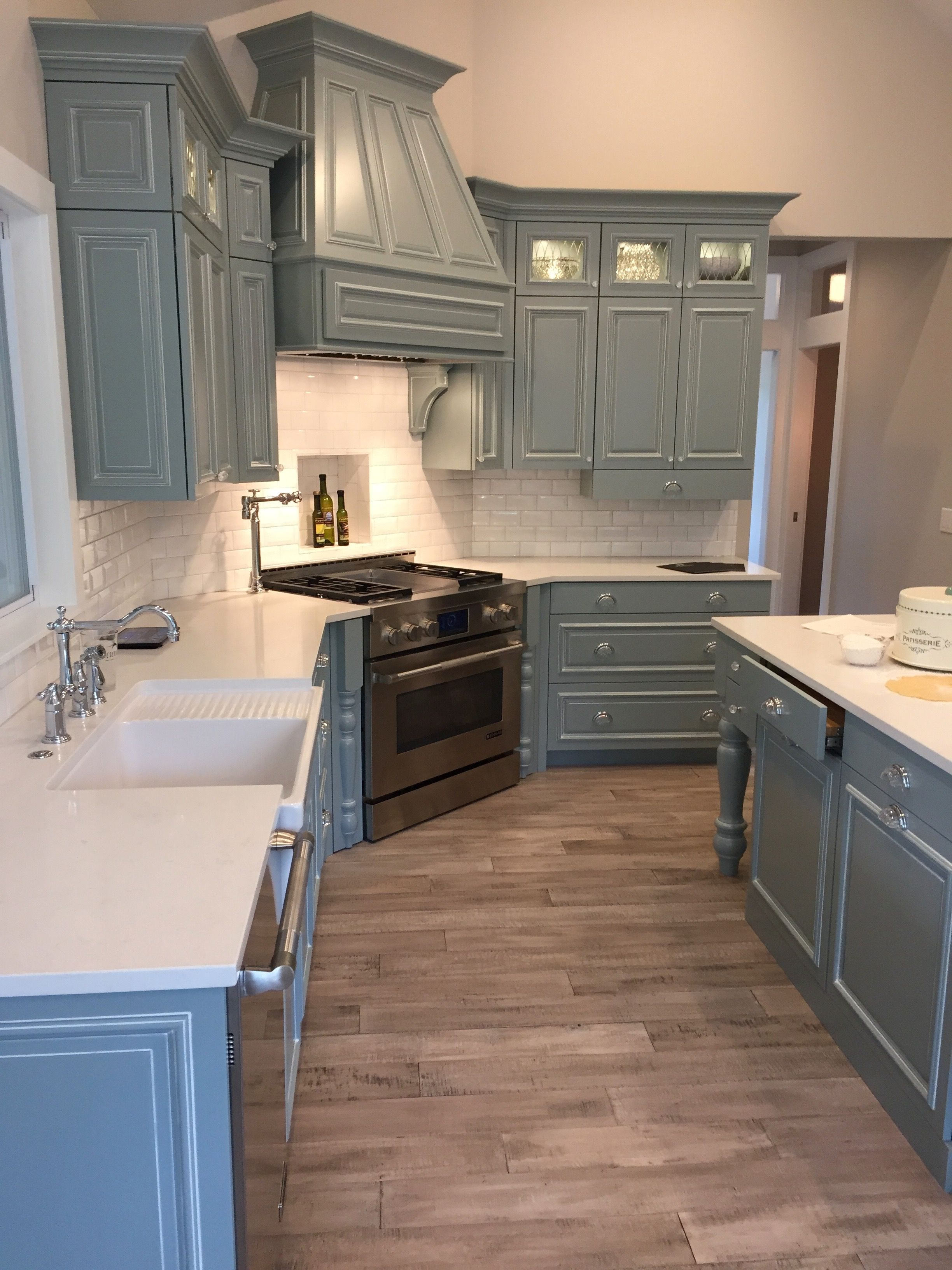 Painted custom cabinetry in Benjamin Moore Mount Saint