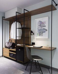 Simple wardrobe with luggage rack add more shelves hotel rede puro also design  tecnologia para uma boa estadia interiors bedrooms and room rh pinterest