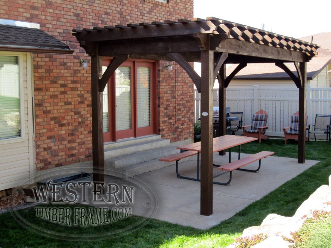 Free Standing Pergola With Rich Cordoba Stain And Crescent Step Profile