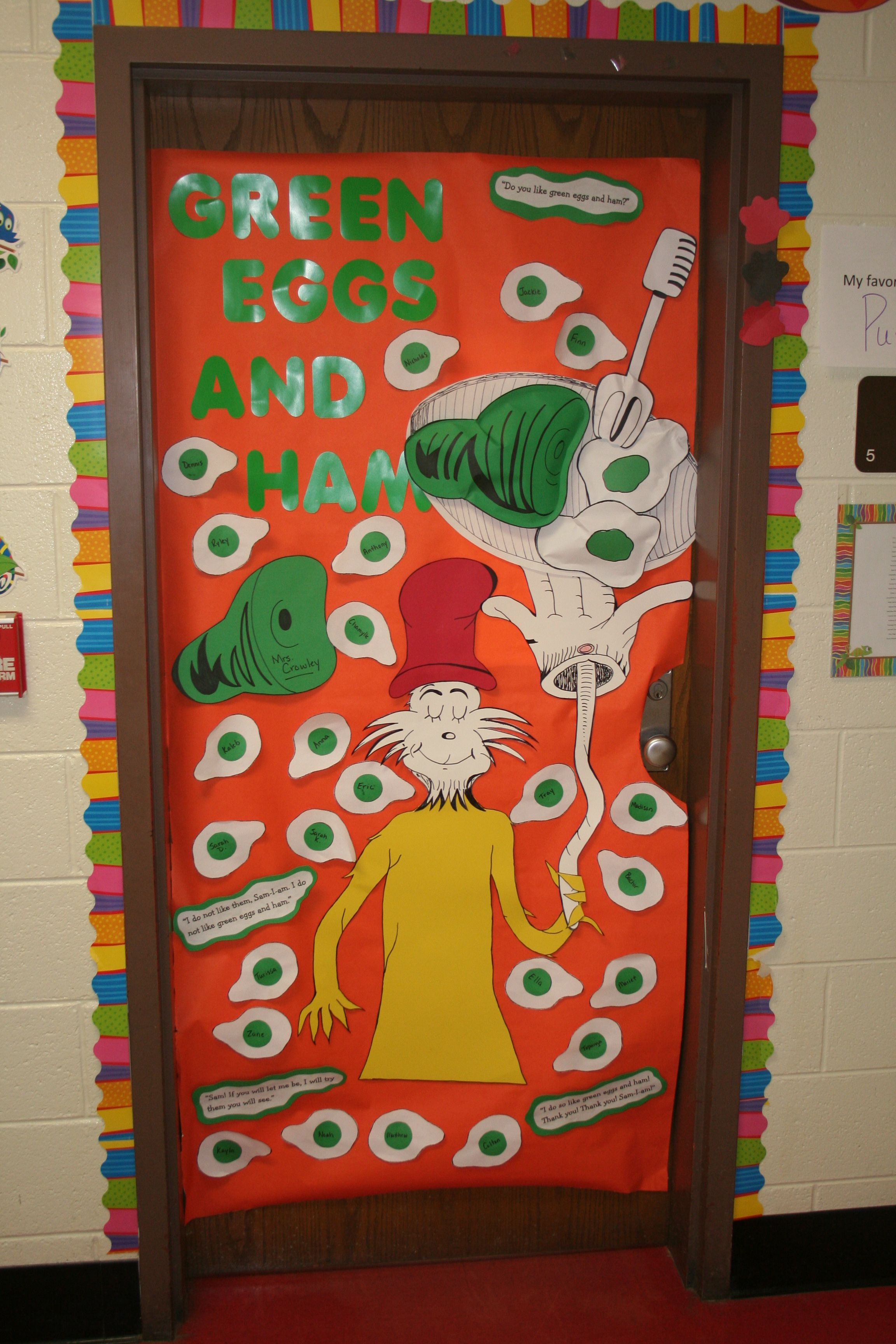 Dr Seuss Teacher Door Green Eggs And Ham