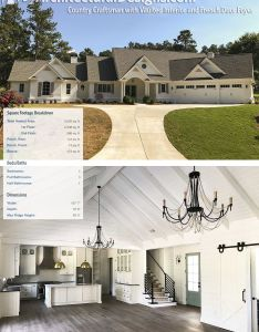 Plan tw country craftsman with vaulted interior and french door foyer introducing architectural designs also rh pinterest