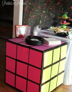party rubik cube table and paint splattered also home electrical tape rh za pinterest