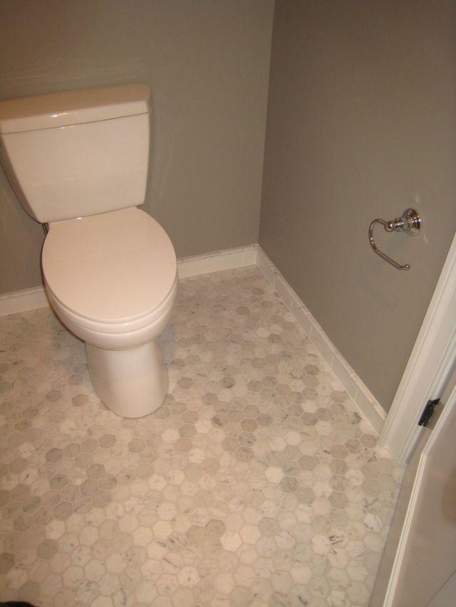 "Bianca Carrara marble 2"" hexagon floor tile Bathroom floor by"