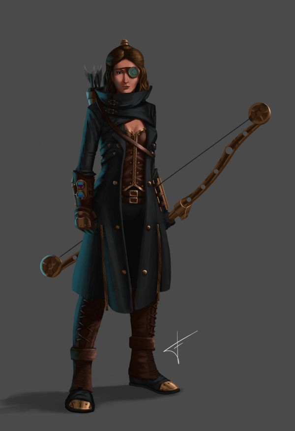 Steampunk Character Concept Art