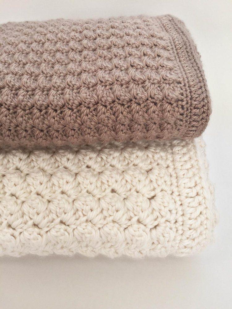 Two Tone Ripple Afghan Crochet Patterns