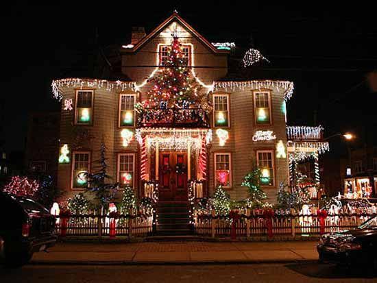 Christmas Holiday Light Yard Display Top Christmas Light