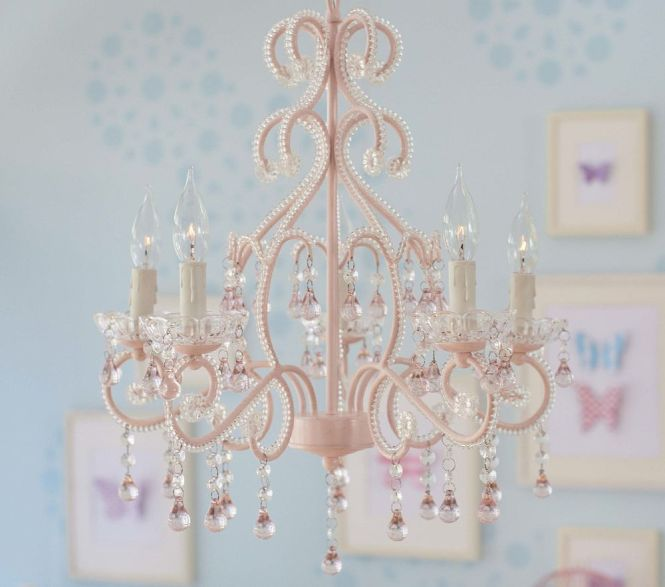 Pink Lydia Chandelier Perfect For A Little S Bedroom Or Playroom Love