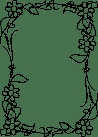 Marcos y bordes de flores para colorear