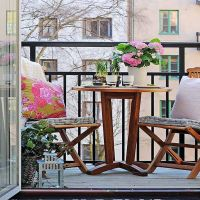 Alluring studio apartment balcony furniture for small ...