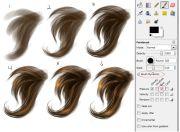 simple hair painting step