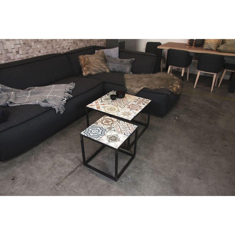 Spinder Design Ibiza Salontafel met Tegels Blacksmith