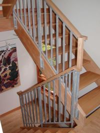 stair railing | wood stair railings interior  wood stair ...