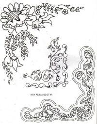 esquinas de flores para colorear