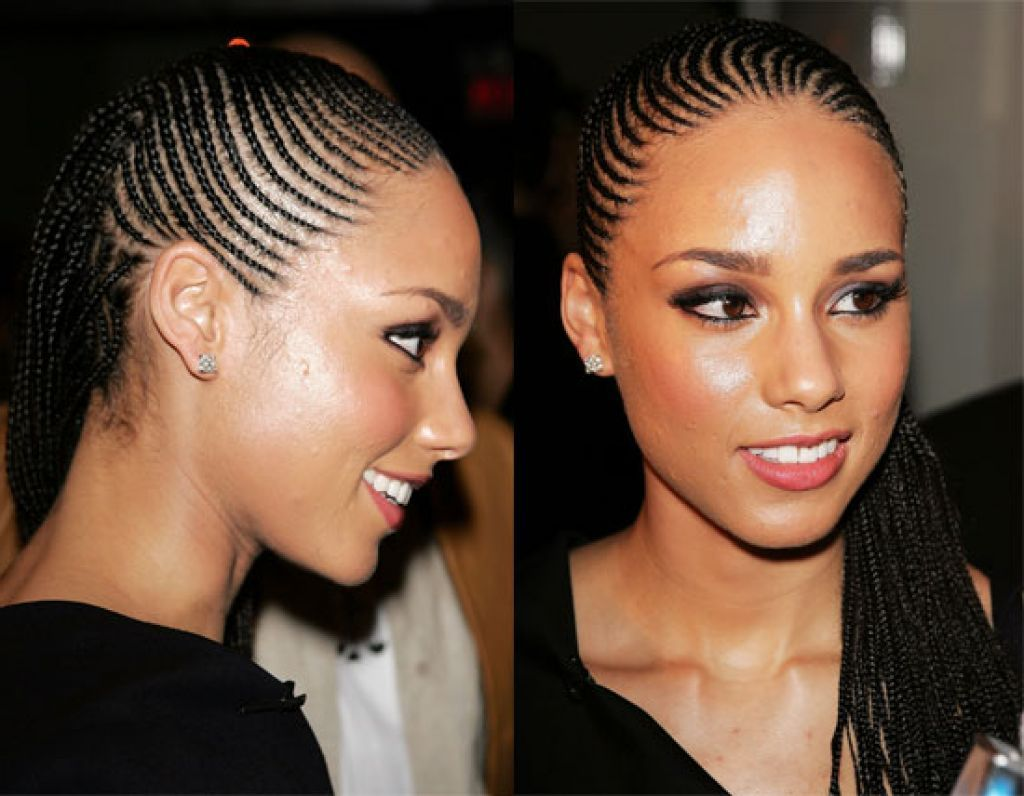 Alicia Keys Cornrow Braid Hairstyles HAIR Pinterest Braids