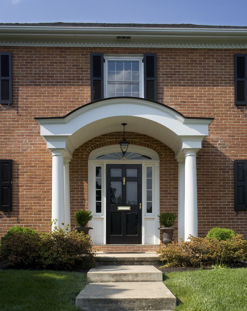 Colonial Front Doors With Storm Door In Front Of It Of The Beauty