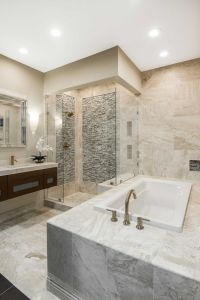 Luxurious bathroom tile - Queen Beige Polished Marble Wall ...