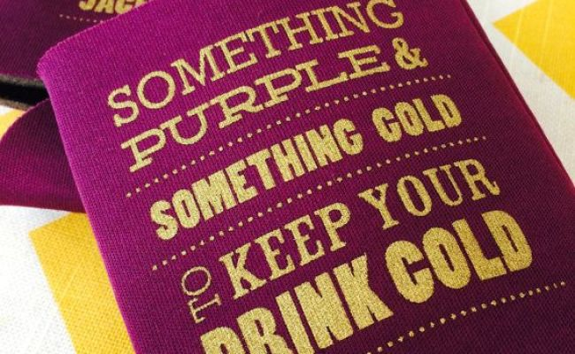 Something Purple And Something Gold To Keep Your Beer Cold