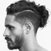 man bun hairstyles undercut fade