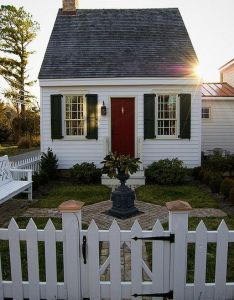 Guest house inspiration colonial cottage by the sea dream come true love fencing and stone walkway too no fireplace required unless it was also little of st michaels tiny houses ocean rh pinterest