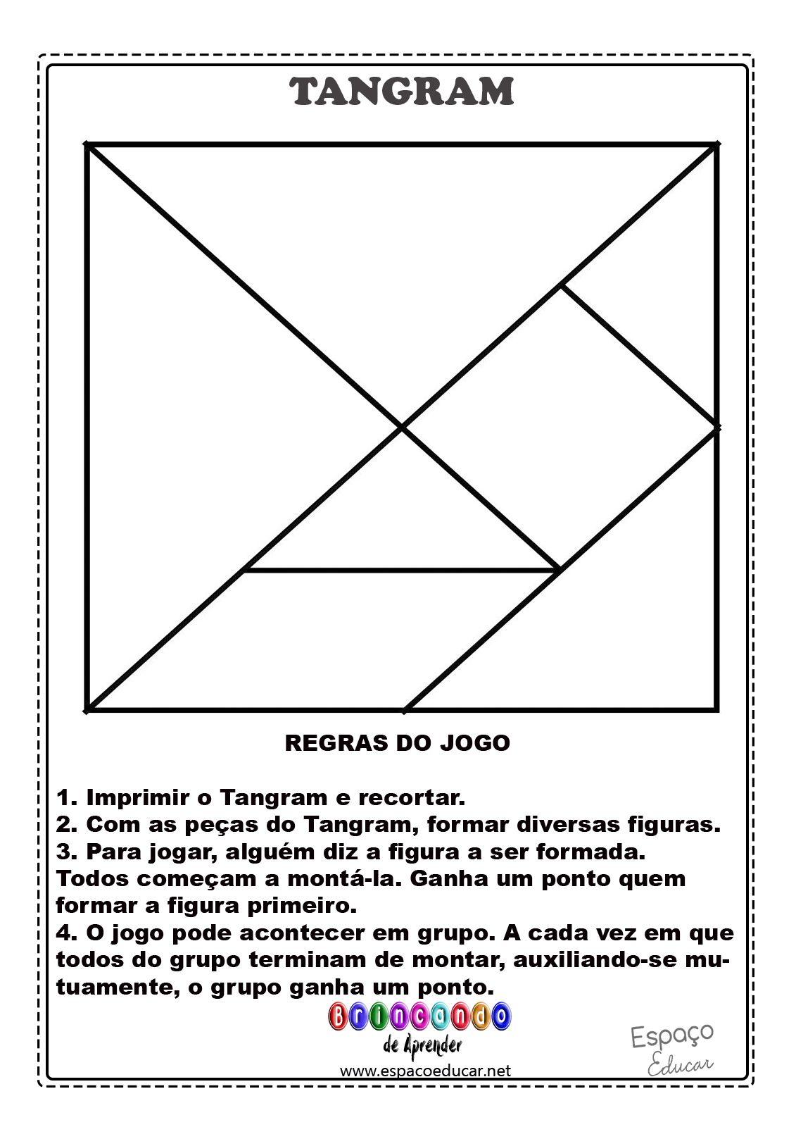 Tangram Para Imprimir Sugestoes De Montagem E Regras Do