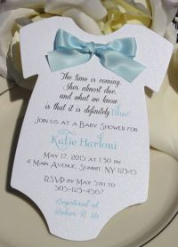 Baby Shower Invitation for Boy in Shape of Onesie with ...