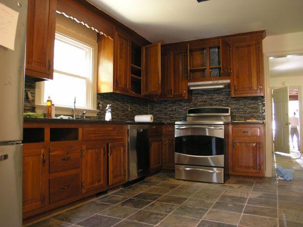 Slate Floor Kitchen - Home Design Ideas