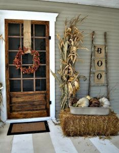 ways to have the prettiest porch on block this fall also top ideas about pinterest front makeover rh