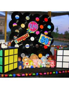 party theme we used old records childhood fav toys made rubiks cubes also best images about dumpster  on pinterest  rh