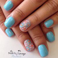 Spring gel nail art design | Nail Art | Pinterest | Gel ...