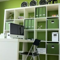 Office Expedit storage storage coordinates with wall color ...