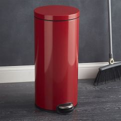 Red Kitchen Trash Can Mobile Home Sinks Round 8 Gallon Step Crate And Barrel Shopping Corner Stainless Steel Shopstyle