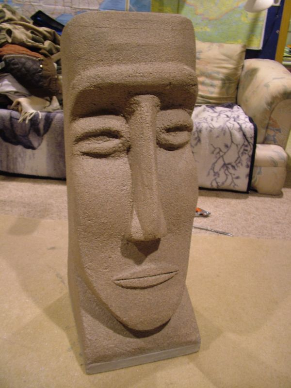 Styrofoam Easter Island Head Carvings And Sculpture Art Wood Carving