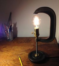 Industrial upcycled desk lamp C-Clamp Light by ...