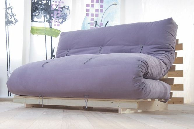 Traditional Futon Mattress That Is Commonly Used In An Now The Model Transformed Into A Bed Sofa This Very Comfortable