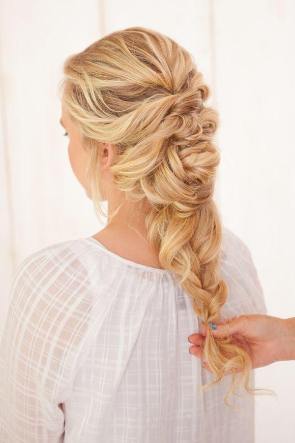 French Braid Twist Tutorial  The Bride Link  Wedding