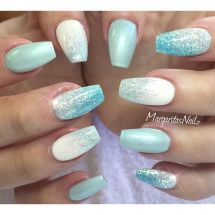 Sparkly Ombre Nails Short Coffin Imgurl